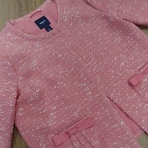GAP KIDS Girl's NWOT Pink Tweed Blazer Jacket Top